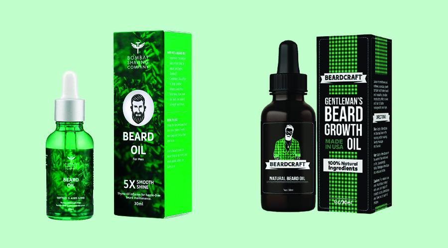Beard Oil Boxes Packaging