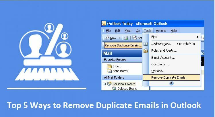Remove Copy Accounts out of Microsoft Outlook