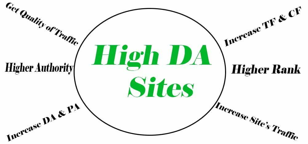 High DA Authority Backlinks Sites
