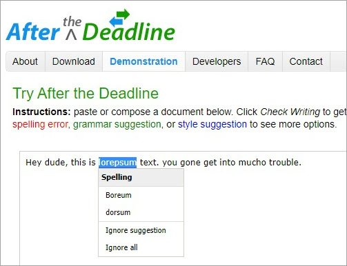 Simple proofreader