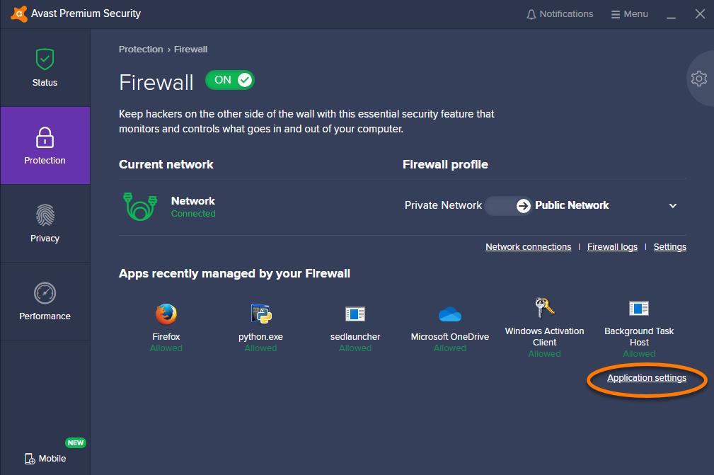 Antivirus Firewall Rules
