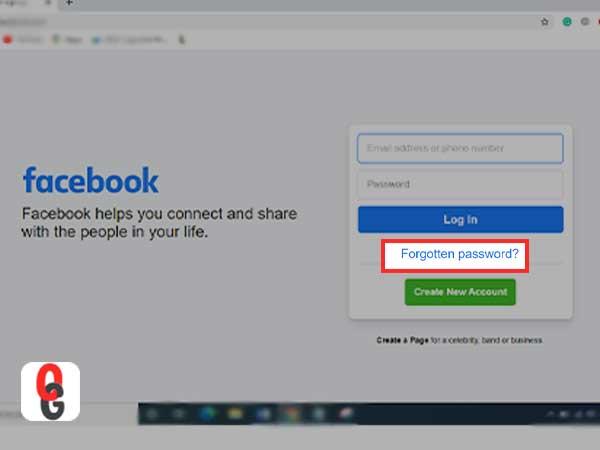 Forgotten acebook Password