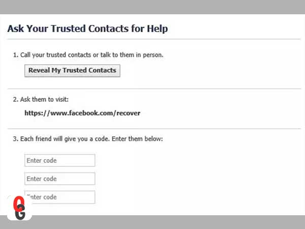 Ask Your Trusted Contacts for Help