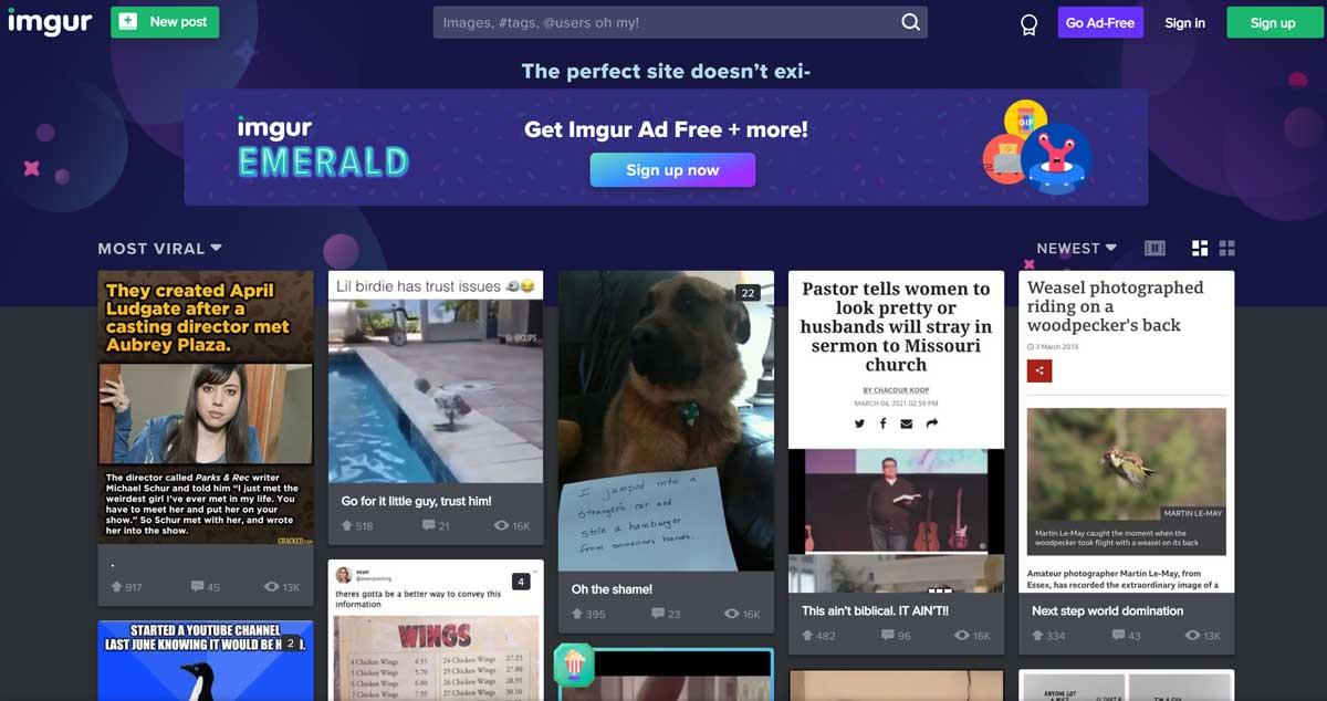 Imgur is an online platform