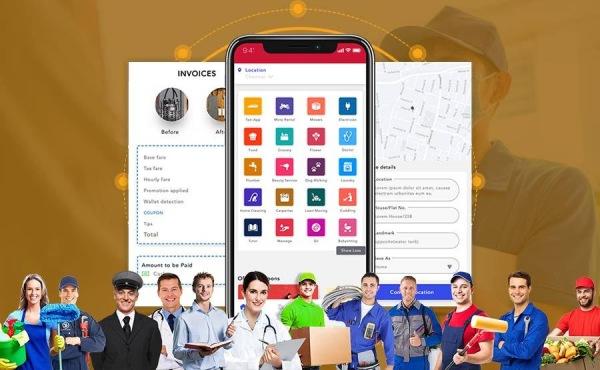 Services marketplace app development